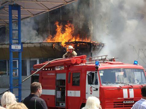 Пожар произошел вижевском ресторане